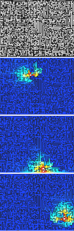 Machine learning in mazes