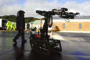 """HANDOUT RESTRICTED TO EDITORIAL USE AND EDITORIAL SALES - MANDATORY CREDIT """"AFP PHOTO / HO / NEW ZEALAND DEFENCE FORCE"""" This undated handout photo obtained on November 22, 2010 from the New Zealand Defence Force shows a military robot (L), named a """"Remote Positioning Device Wheelbarrow Revolution, NZ Defence Force Version"""", being used at an undisclosed location. New Zealand rescuers on November 22 were considered sending the military robot into a blast-hit mine to search for 29 missing men, as a bore hole to check gas levels and carry video gear inched towards completion. AFP PHOTO / HO / NEW ZEALAND DEFENCE FORCE / AFP / NEW ZEALAND DEFENCE FORCE / New Zealand Defence Force"""