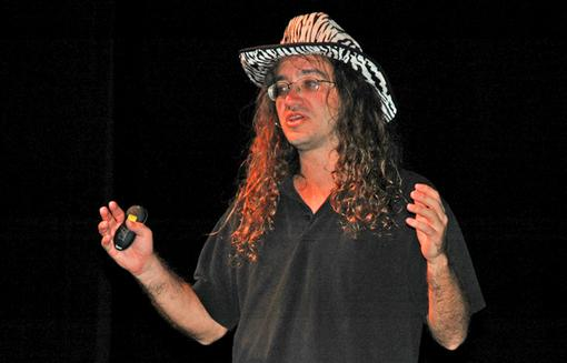 Ben Goertzel holding a lecture. Photo via Freebase.com and Wikimedia Commons